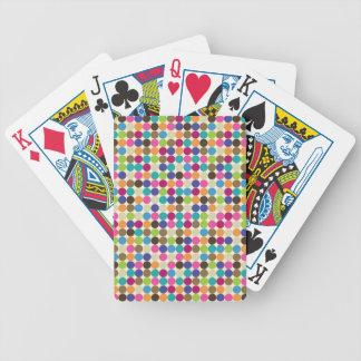 Modelo abstracto del círculo baraja cartas de poker