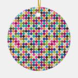 Modelo abstracto del círculo adorno redondo de cerámica