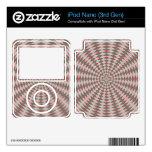 Modelo abstracto del círculo iPod nano 3G skin
