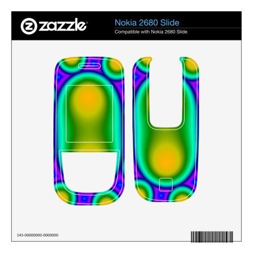 Modelo abstracto del círculo nokia 2680 slide calcomanías