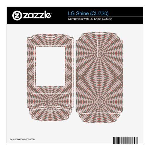 Modelo abstracto del círculo skins para LG shine