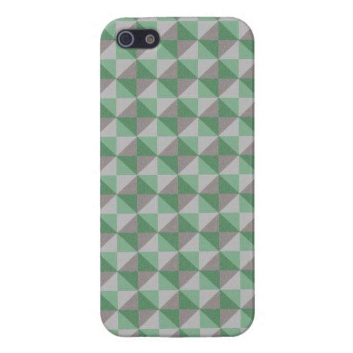 Modelo abstracto del cuadrado y del triángulo de iPhone 5 cárcasa