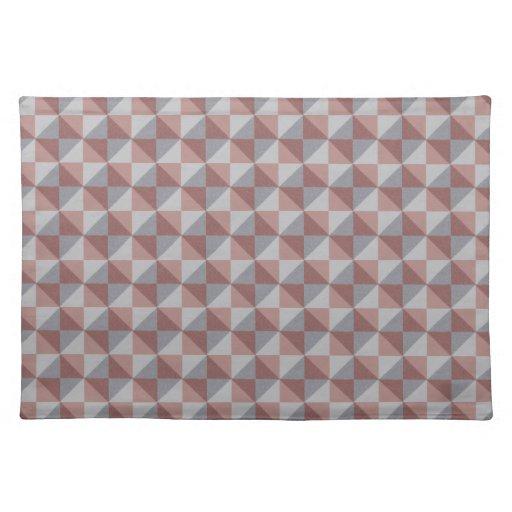 Modelo abstracto del cuadrado y del triángulo mantel individual