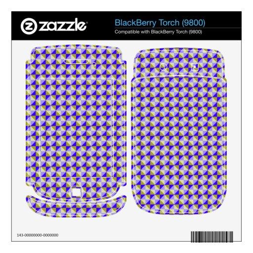 Modelo abstracto del cuadrado y del triángulo calcomanía para BlackBerry