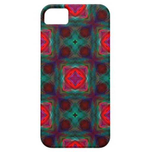 Modelo abstracto del fractal iPhone 5 protectores