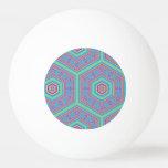 Modelo abstracto del hexágono pelota de ping pong
