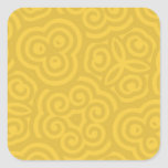 Modelo abstracto del oro calcomania cuadradas