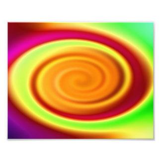 Modelo abstracto del remolino del arco iris arte fotografico