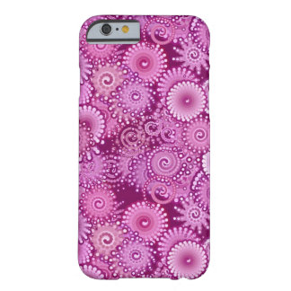 Modelo abstracto del remolino, púrpura, rosa, funda para iPhone 6 barely there