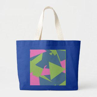 Modelo abstracto del triángulo bolsa tela grande
