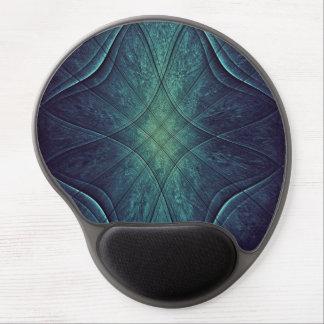 Modelo abstracto del verde azul alfombrilla con gel