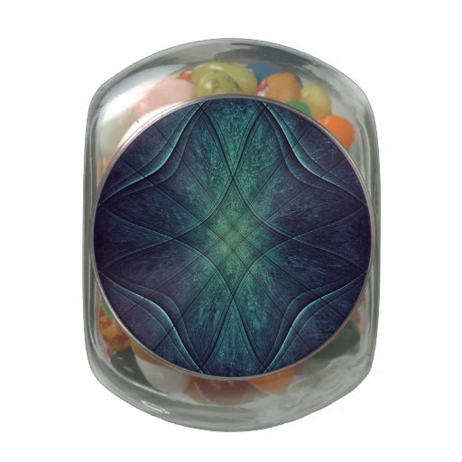 Modelo abstracto del verde azul jarras de cristal