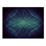 Modelo abstracto del verde azul tarjetas postales