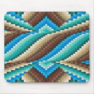 Modelo abstracto del verde de la turquesa de Brown Tapete De Ratones