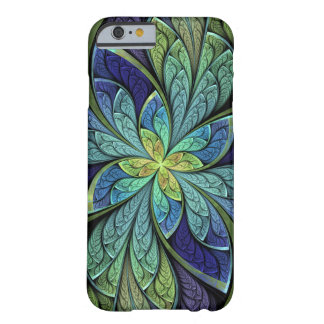 Modelo abstracto del vitral de Chanteuse IV del La Funda De iPhone 6 Barely There