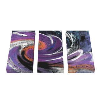 Modelo abstracto digital de moda del remolino del  impresión en lienzo estirada