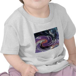 Modelo abstracto digital de moda del remolino del  camiseta