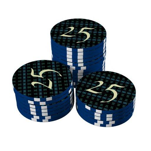 Modelo abstracto elegante fichas de póquer