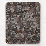 Modelo abstracto en Brown y gris Tapete De Raton