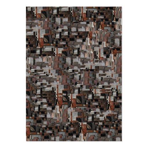 Modelo abstracto en Brown y gris Tarjetas De Visita