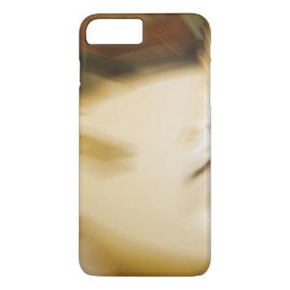 Modelo abstracto en colores de tono de la tierra funda iPhone 7 plus