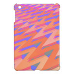 Modelo abstracto en colores pastel del zigzag iPad mini protector