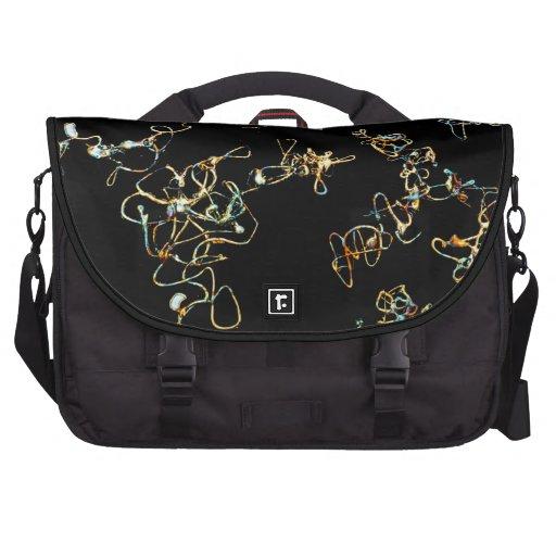 Modelo abstracto en negro y color del oro bolsas de portátil