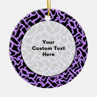 Modelo abstracto en negro y púrpura ornamentos para reyes magos