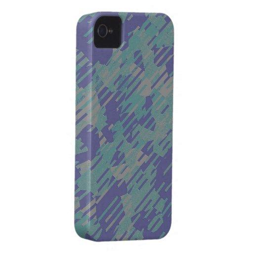 Modelo abstracto en púrpura, verde, y de color iPhone 4 protectores