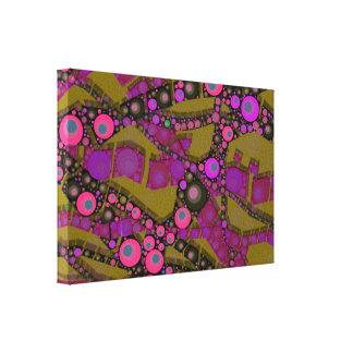 Modelo abstracto enrrollado impresiones de lienzo