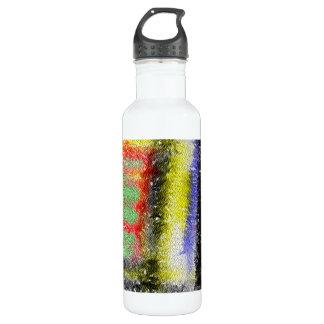 Modelo abstracto extraño botella de agua de acero inoxidable