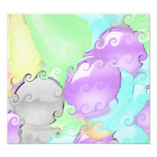 Modelo abstracto extraño con colores brillantes fotografias
