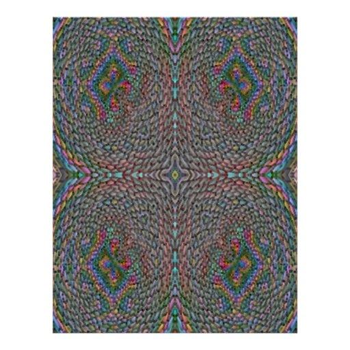 Modelo abstracto extraño flyer a todo color