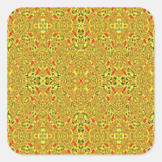 Modelo abstracto extraño pegatina cuadrada