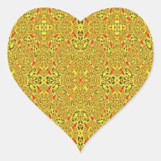 Modelo abstracto extraño pegatina en forma de corazón
