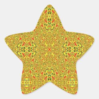 Modelo abstracto extraño pegatina en forma de estrella