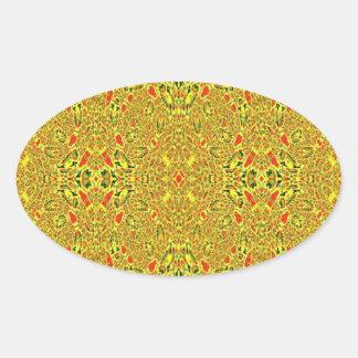 Modelo abstracto extraño pegatina ovalada