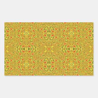 Modelo abstracto extraño pegatina rectangular