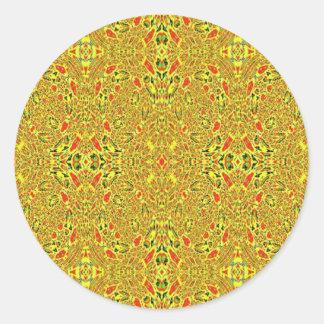 Modelo abstracto extraño pegatina redonda