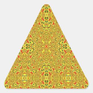 Modelo abstracto extraño pegatina triangular