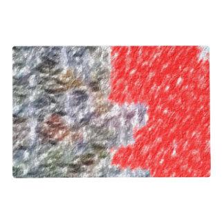 Modelo abstracto extraño tapete individual