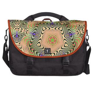 Modelo abstracto florido elegante colorido bolsas para portatil