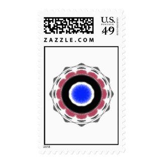 Modelo abstracto fresco del círculo sello
