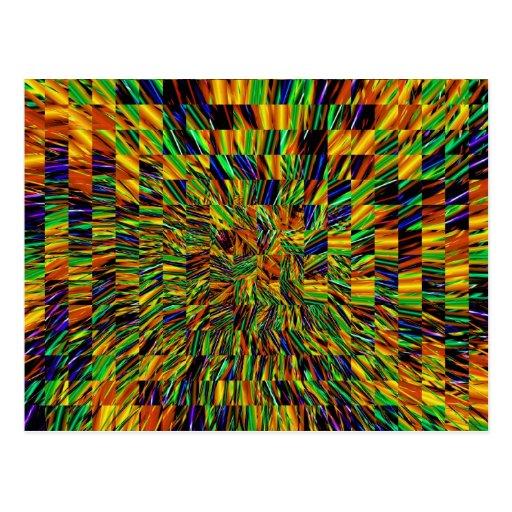"Modelo abstracto fresco lindo ""remolino del arco postal"