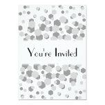 Modelo abstracto gris moderno invitación 12,7 x 17,8 cm