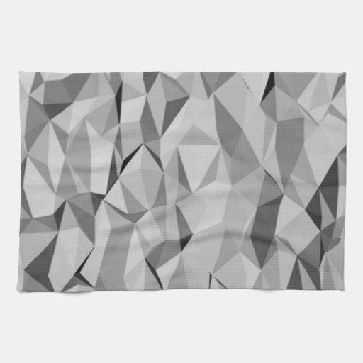 modelo abstracto gris toallas de mano