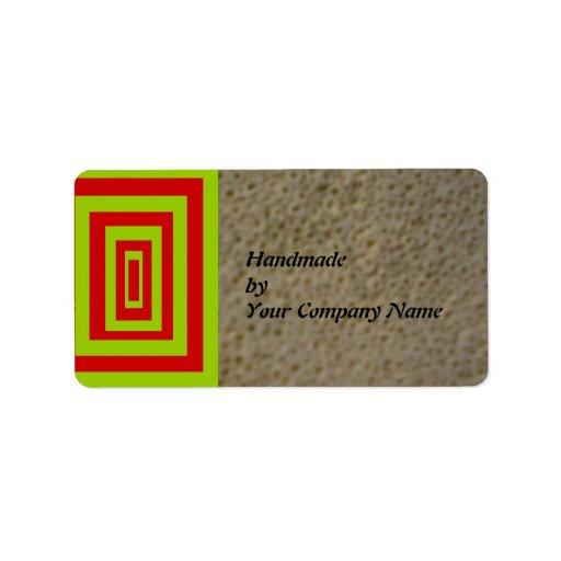 Modelo abstracto hecho a mano por las etiquetas de etiquetas de dirección