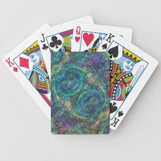 Modelo abstracto hermoso barajas de cartas