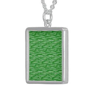 Modelo abstracto, inconsútil, verde colgante cuadrado