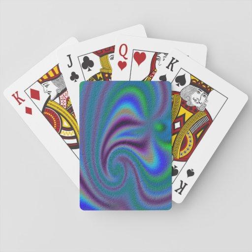 Modelo abstracto inusual barajas de cartas